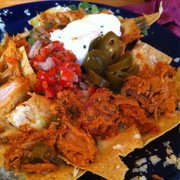 Nachos with spicy pork picadillo!