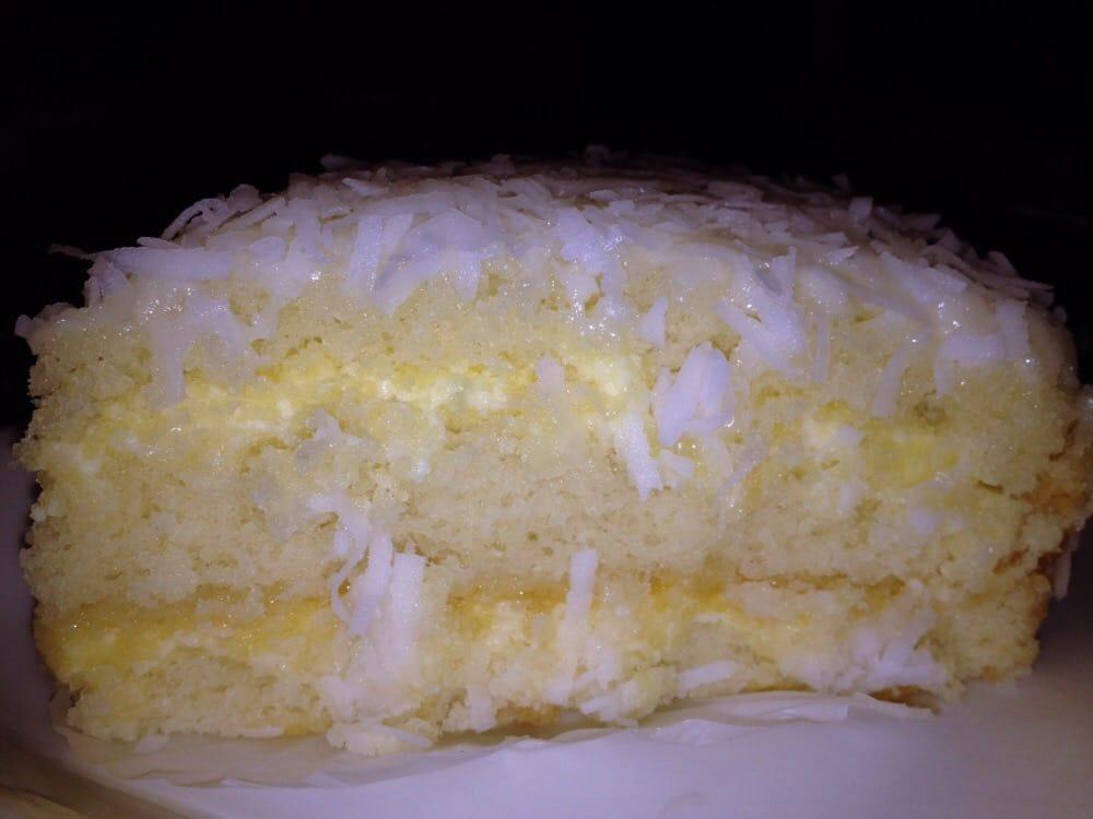 La Madeleine Coconut Cream Cake