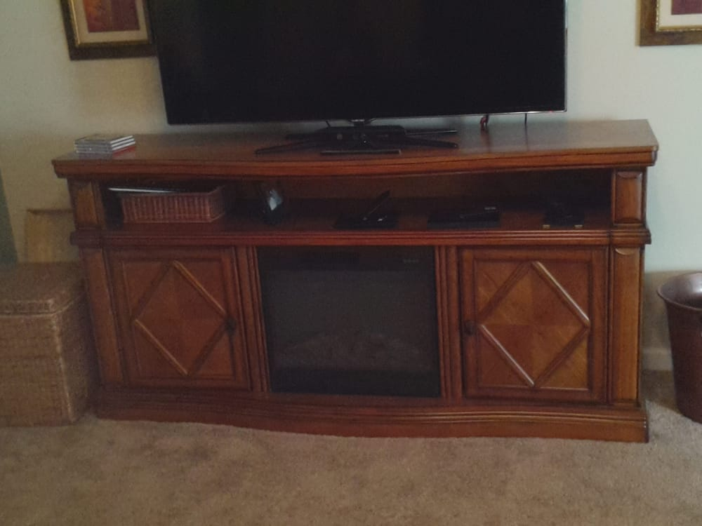 Solidly Built Tv Stand With Fireplace Yelp