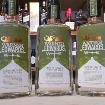 Our new addition to our gin range - Warner Edwards Elderflower Infused gin.  Delicious!