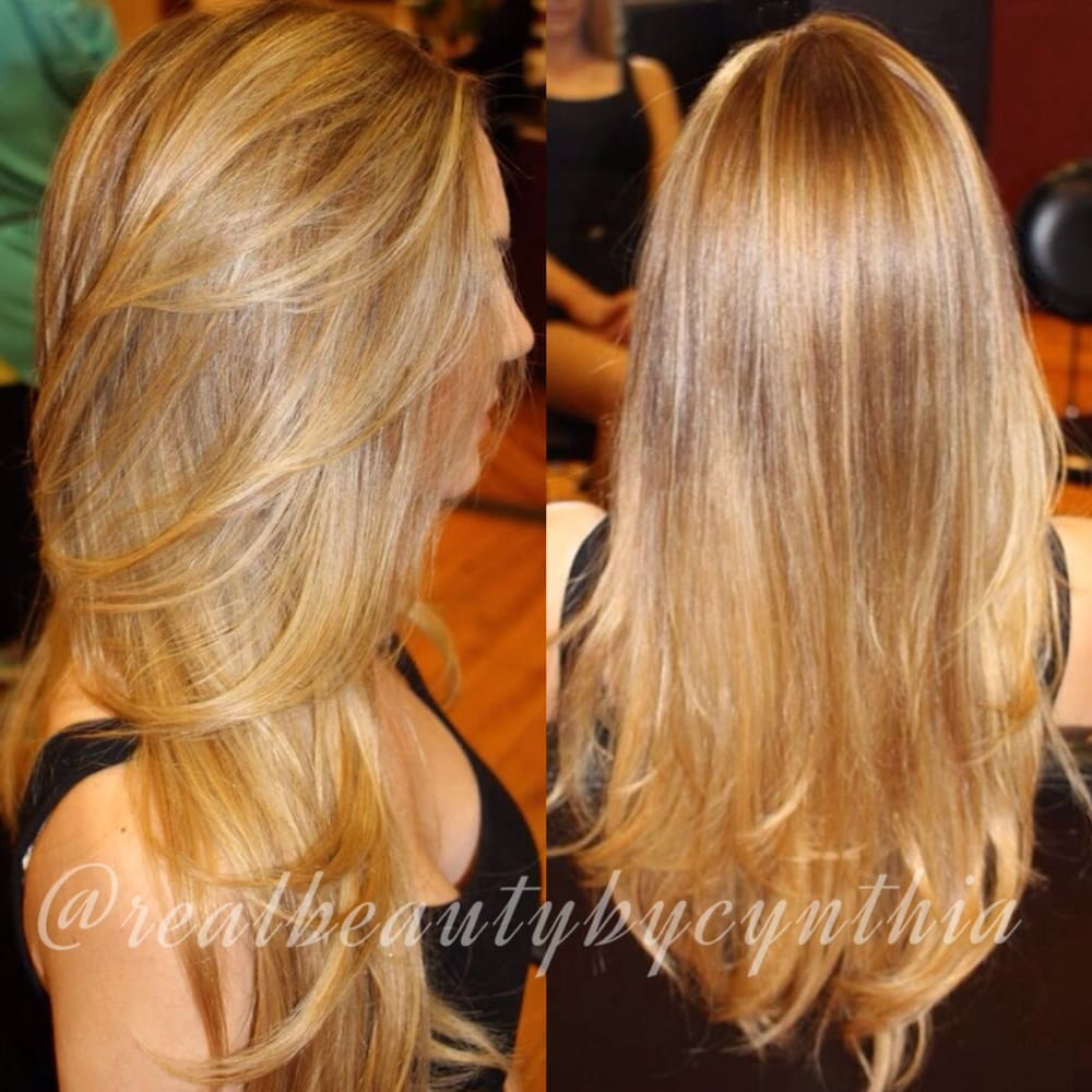 ... . Highlight and lowlight contrast blended on this beautiful blonde