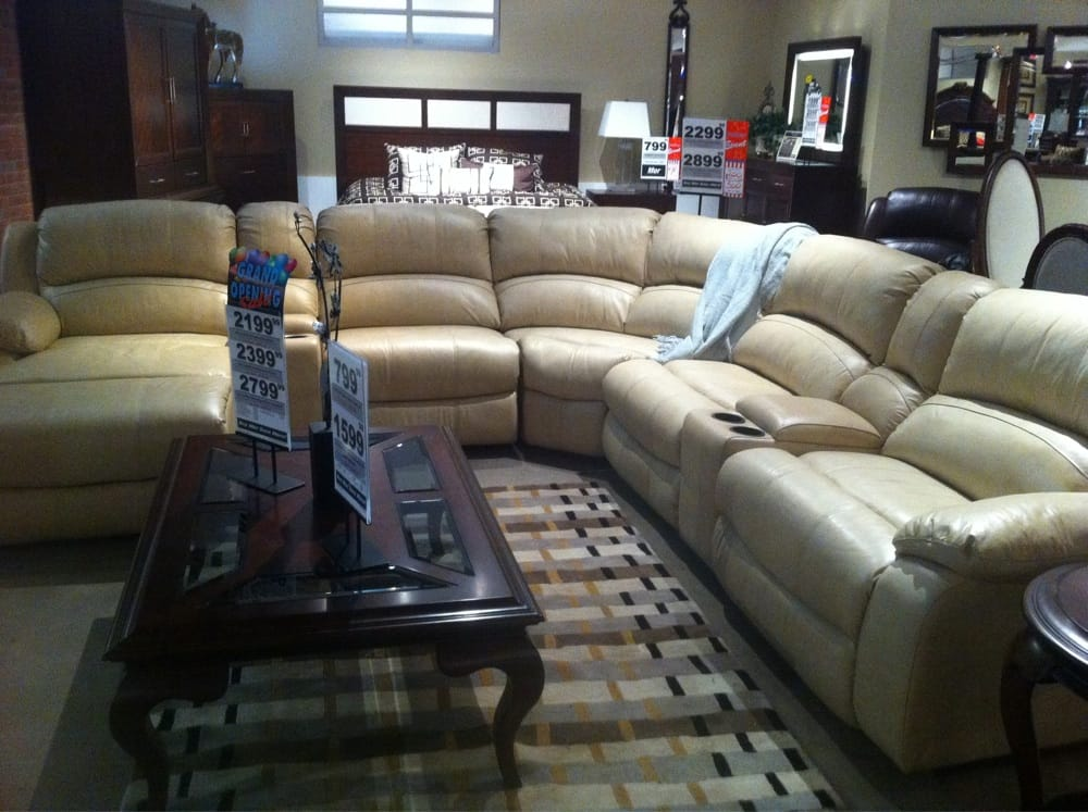 My Choice Leather Sectional Couch With 2 Recliners And A Chaise Love It Yelp