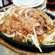 Sizzling duck