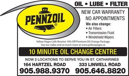 Pennzoil 10 Minute Oil Change Quick Oil Changes