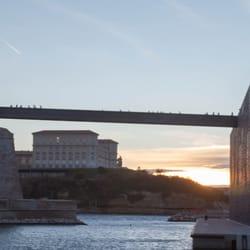 MuCEM - Marseille, France. Couché de soleil sur le MuCeem