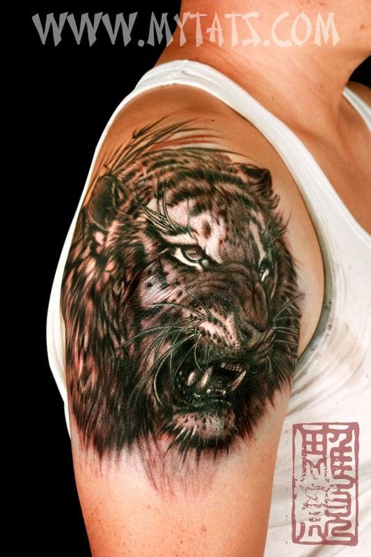 Tiger Headdress Tattoo Tiger Done in my Tattoo