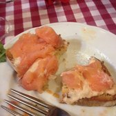 Bruschetta al salmone. Around two euros and the freshest smoked salmon I've ever had