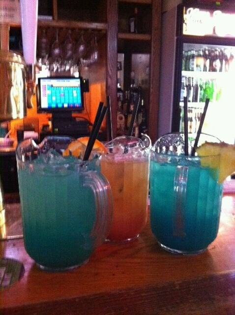 Fish bowl drinks blue flamingo blue bang horny for Fish bowl drinks near me