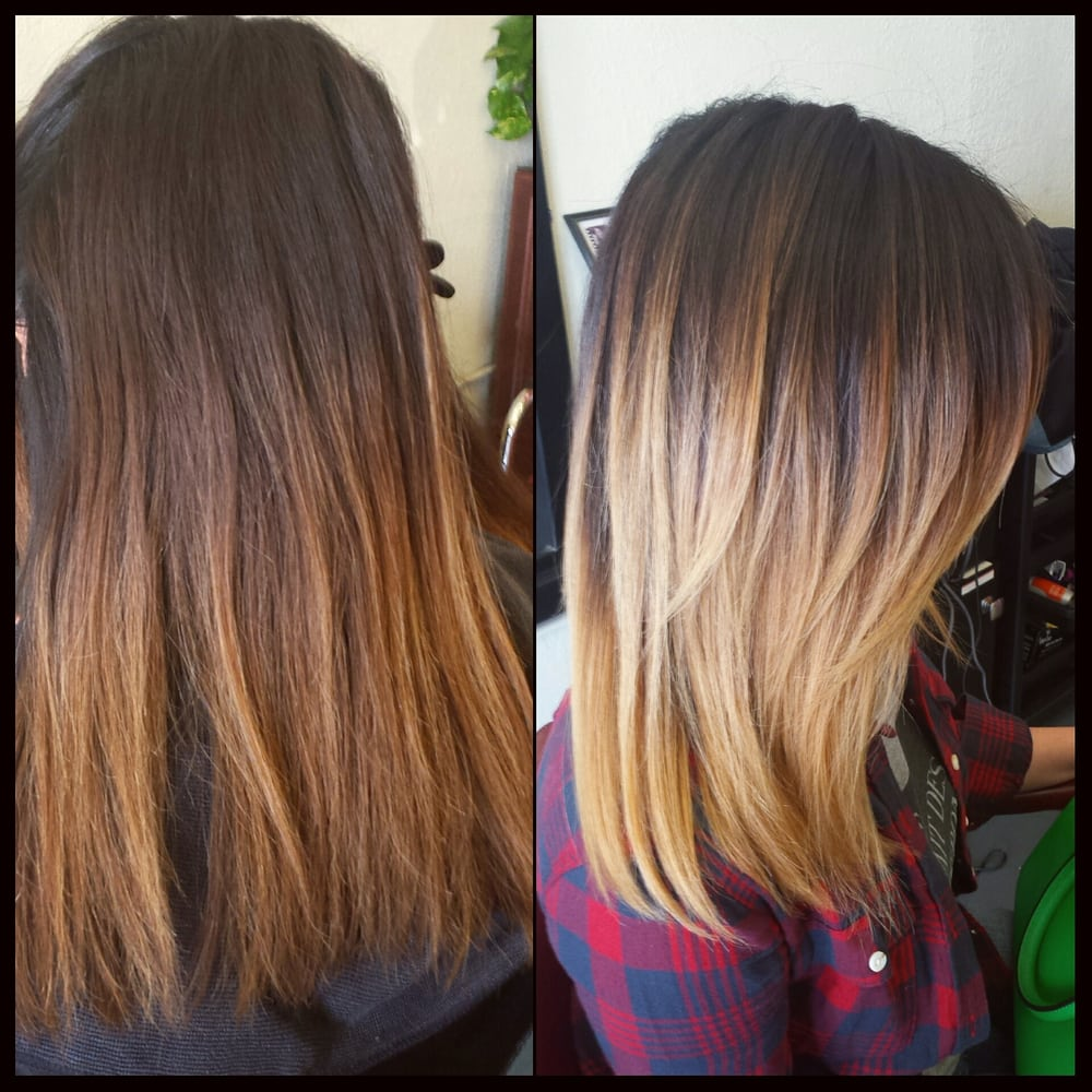 Before after hair by jmedina lighter blended ombre using - The catwalk hair salon ...