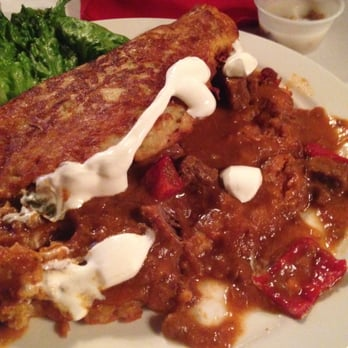 Polonia Restaurant - Their potato pancake with beef goulash - at least ...