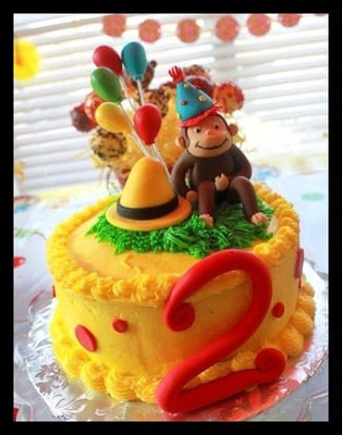 Curious George Birthday Cake All Edible