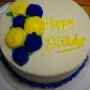 Inspiration Catering & Baking - Blue & Yellow Birthday Cake - Federal Way, WA, Vereinigte Staaten