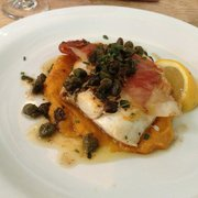 Hake, with the most incredible squash…