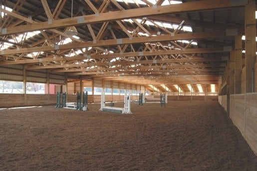 Huge 206 39 X 72 39 Indoor Riding Arena With Fantastic Footing Mirrors