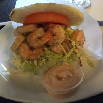 Shrimp arepa