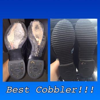 Joe Pacific Shoe Repair - Honolulu, HI, United States. Right is my shoes