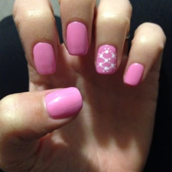 Healthy Nail Spa - San Jose, CA, United States. Shellac with lattice
