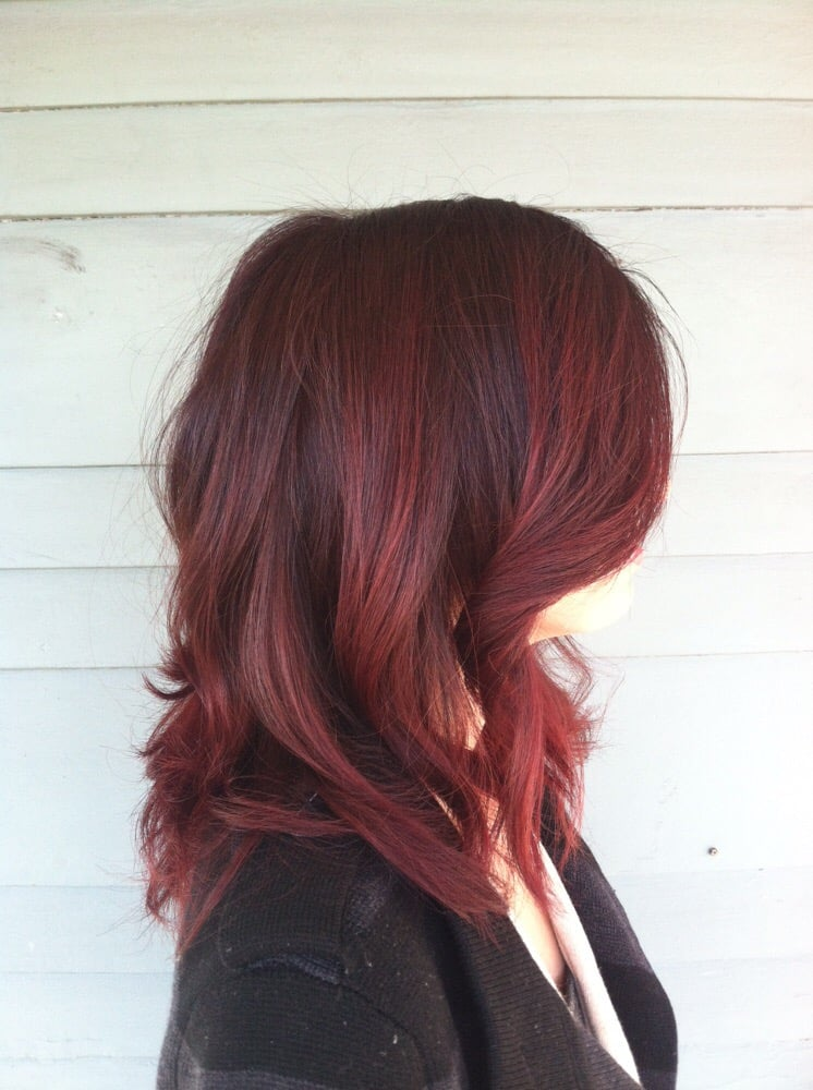 Merlot Red Hair Red Merlot Color Melt