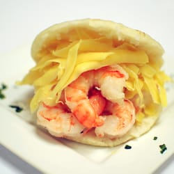 Saman Arepas Bistro - Orlando, FL, United States. Arepa (Shrimp and ...