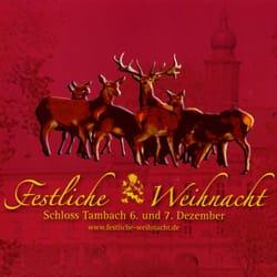 Weihnachtsmarkt Schloss Tambach, Weitramsdorf, Bayern
