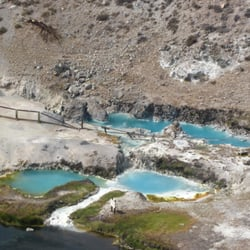 Hot Creek Ranch - Mammoth Lakes, CA, États-Unis. Boiling Blue Pools