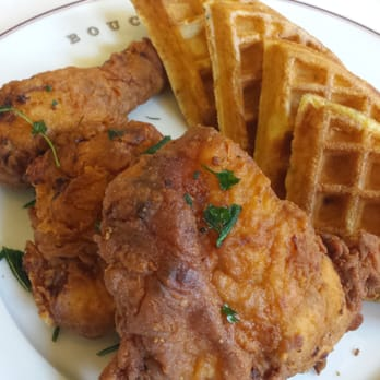 ... CA, United States. 090715: famous Ad Hoc Fried Chicken and waffles