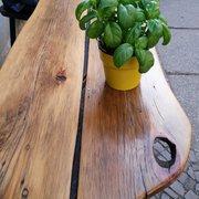 Draußen-Sitz-Tisch ...