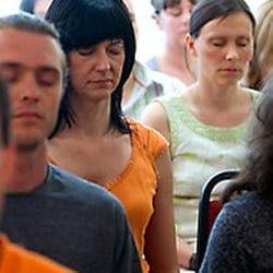A group meditating at a Heruka Centre event