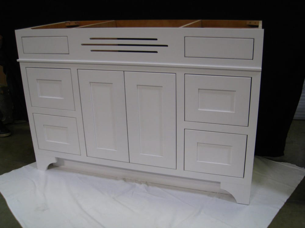 Bathroom vanity inset shaker painted white yelp for Bathroom cabinets yelp