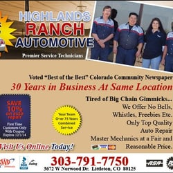 Highlands Ranch Automotive logo