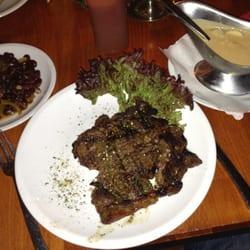 Schön 300 g Steak und so!