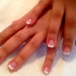 """Classic French UV Gel Nails"" ..x.."