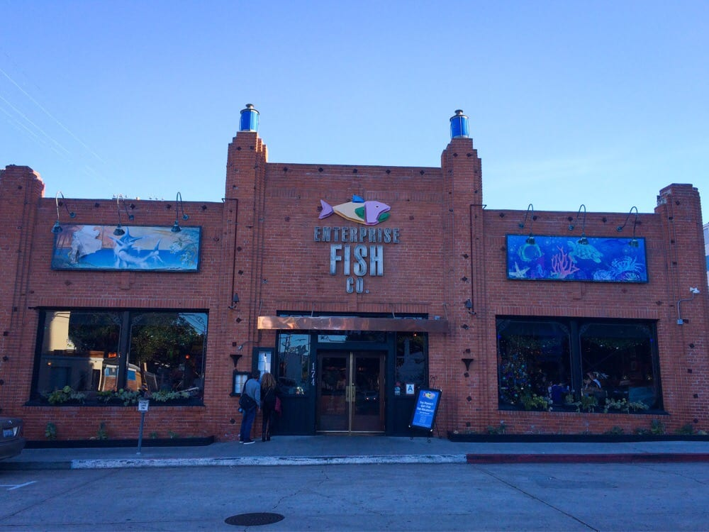 Front of the building yelp for Enterprise fish co santa monica