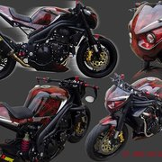 Triumph Speed Triple Komplettbemalung