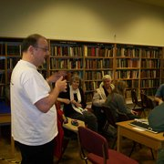 Titanic Lecture at Brierfield Library. Nov 2009.