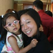 Prevent Blindness Northern California - Wing-See Leung with a little girl that just got her new pair of glasses! - San Francisco, CA, Vereinigte Staaten