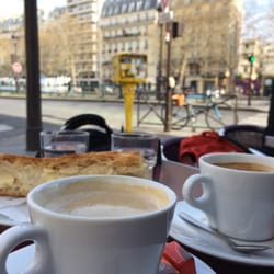 Chez Prune - Paris, France. Coffee by the canal