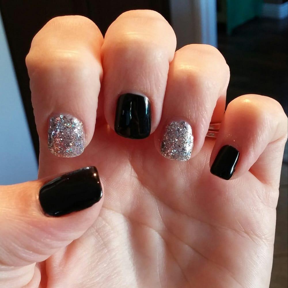 Black Gel Nail Polish: Gel Nail Polish Black And Silver Glitter. Love It!