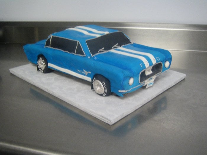 Ford Mustang Birthday Cakes 1967 Ford Mustang Cake