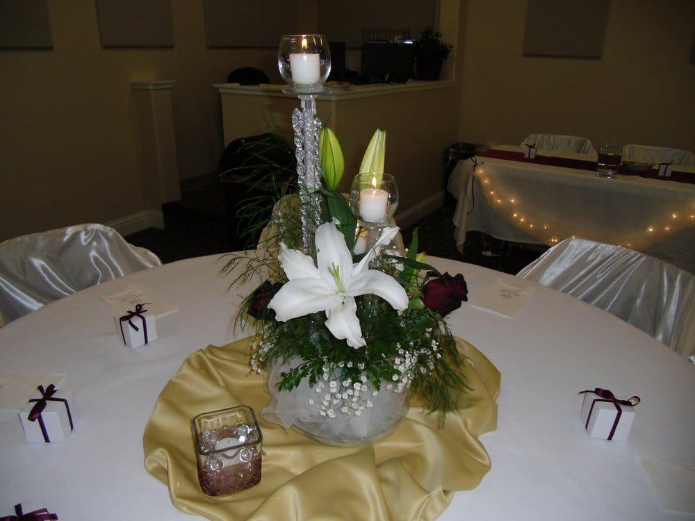 Jenn s tier candle flower centerpiece yelp