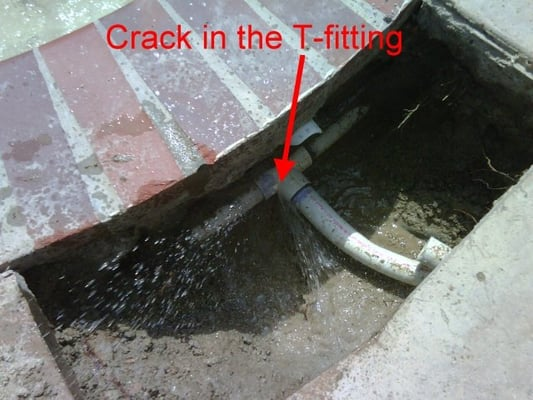 Underground Leak Repair On In Ground Spa Yelp