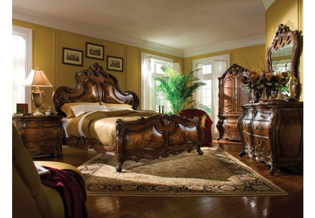 Aico platine de royale bedroom set los angeles furniture for Bedroom furniture 90036