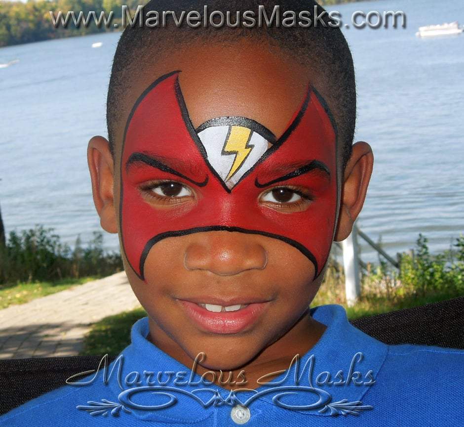 face paint flash images