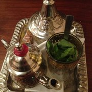 High Cafe - Galway, Irlande. Moroccan mint tea