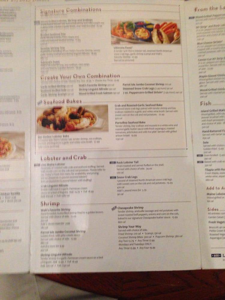 Red Lobster menu - Yelp