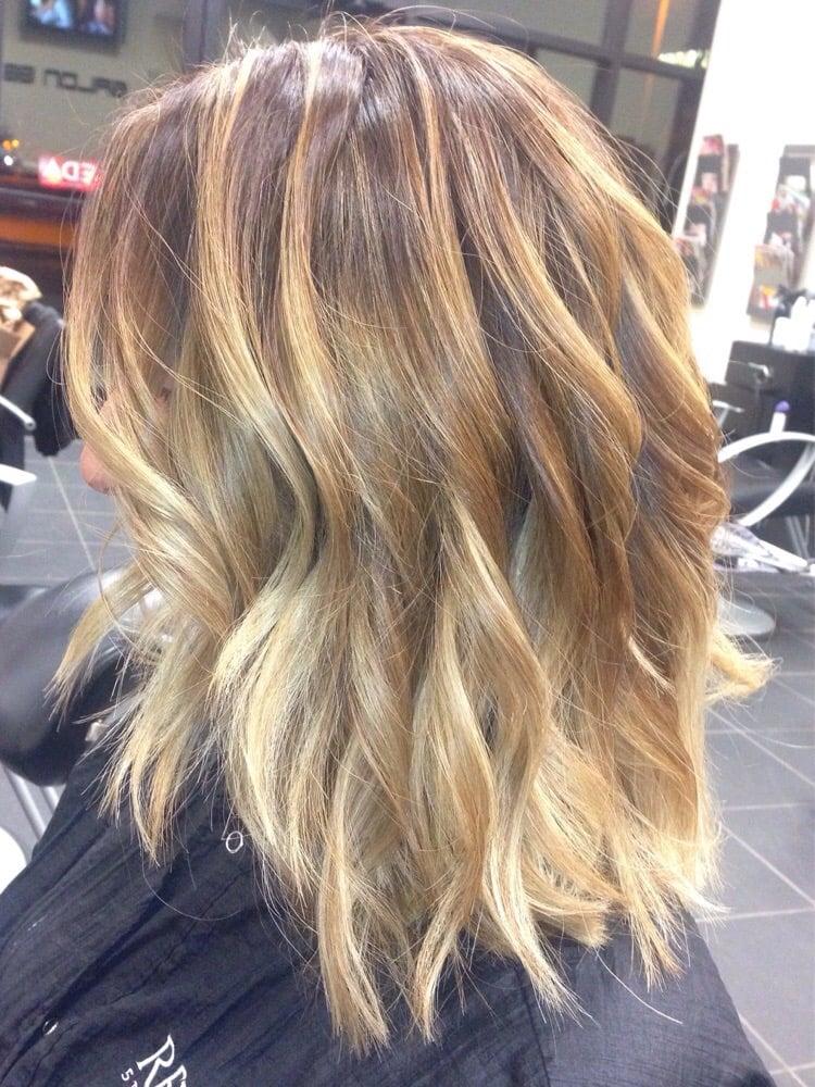 Short dark hair balayage hair pinterest short dark for Balayage braun blond