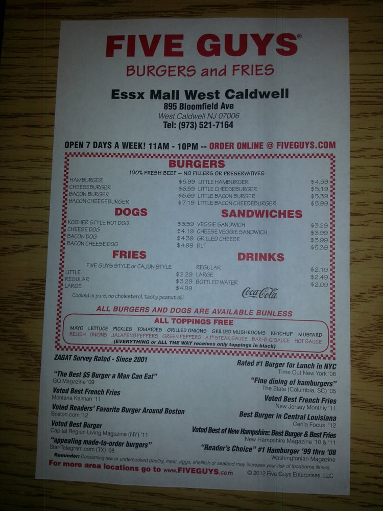 restaurant review reviews five guys west florida keys