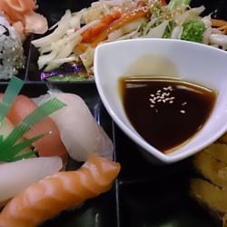 Ichiban Sushi - Sakura box. The chicken katsu alone is worth the meal but everything else adds to the explosion of flavors. Simply amazing! - Toronto, ON, Kanada