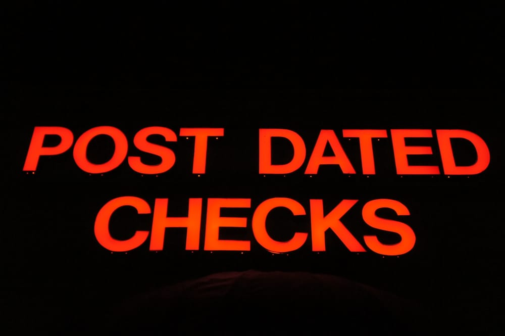 Post dating a check in florida