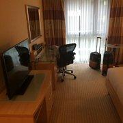 Das Zimmer im Hilton Vienna.